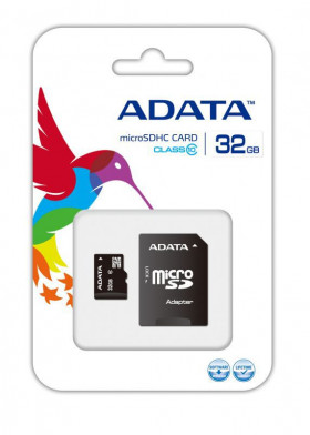 Карта памяти A-DATA 32Gb MICRO SDHC CLASS 10 + SD АДАПТЕР