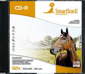 Диск CD-R 700 Mb Smart Track 52x Slim