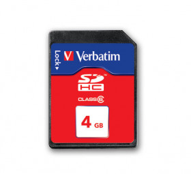 Verbatim SecureDigital SDHC Class 6 4GB