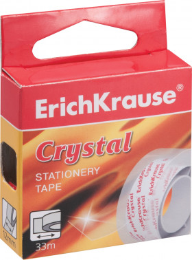 Клейкая лента Erich Krause Crystal 12 мм x 33 м