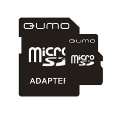 Карта памяти QUMO Micro SecureDigital 8Gb + SD адаптер, QM8GMICSD HC6