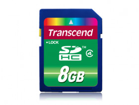 Transcend SecureDigital High Capacity (SDHC) MemoryCard 8Gb Class4, TS8GSDHC4