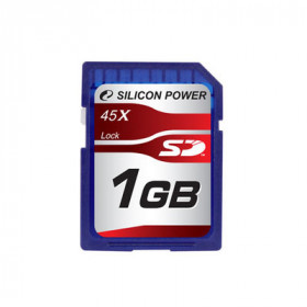 SILICON POWER 1GB SECURE DIGITAL 45X, SP001GBSDC045V10