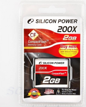 Compact Flash Card 2Gb Silicon Power 200x SP002GBCFC200V10