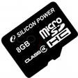 Silicon Power micro SDHC Card 8GB Class 4
