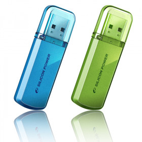 USB накопитель 16Gb Silicon Power Helios 101, USB 2.0, Синий, SP016GBUF2101V1B