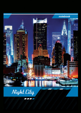 "Блокнот 80 л. А5 на спирали ""Офис. Night City"""
