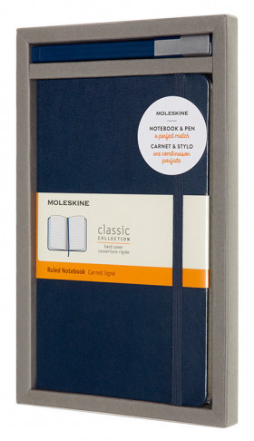 Набор Moleskine Bundle Vertical - блокнот Moleskine Classic Large, линовка в линию, + ручка Moleskine