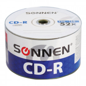 Диски CD-R SONNEN 700 Mb 52x Bulk, уп. 50 штук, 512571