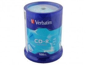 Диск CD-R VERBATIM 52x 700 Mb, туба 100 дисков, 43411